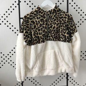 Cheetah Zip Up Pullover